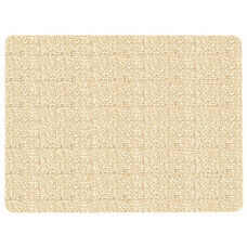 Frameless Burlap Weave Vinyl Display Panel with Radius Corners - Fawn - 18
