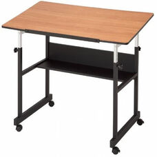 MiniMaster™ II Table with Black Base and Woodgrain Top 24