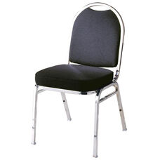 500 Series Stacking Armless Hospitality Chair with Rounded Back and 3