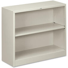 The HON Company Heavy Duty Metal Bookcase - Light Gray