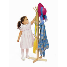 Kids Dress Up Tree with 12 Clothing Storage Pegs in Solid Maple