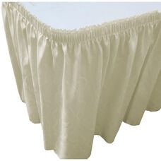 Wave 17 Foot Shirred Pleat Table Skirt with SnugTight™ Clips - Ivory