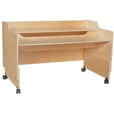 Contender Mobile Wooden Computer Desk - Unassembled - 48