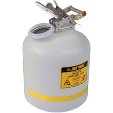 5 Gallon Liquid Disposal Can with Stainless Steel Flame Arrester - White
