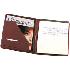 Writing Padfolio - Top Grain Nappa Leather - Burgundy