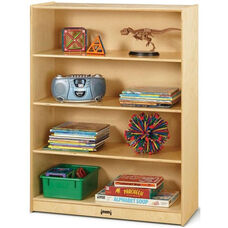 Tall Straight 4 Shelf Wooden Bookcase - 36