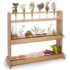Kids Nature Planting Shelf with Potting Trays and Flower Holders
