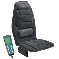 10-Motor Massage Seat Cushion with Heat - Black