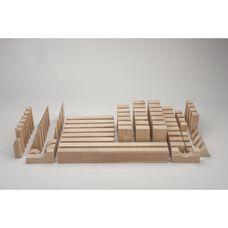 Natural Wood Finished 75 Piece Beginner Block Set