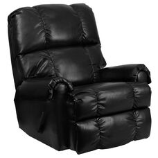 Contemporary Ty Black LeatherSoft Rocker Recliner