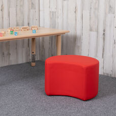 """Soft Seating Collaborative Moon for Classrooms and Daycares - 12"""" Seat Height (Red)"""