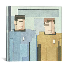 Kirk And Spock by Adam Lister Gallery Wrapped Canvas Artwork