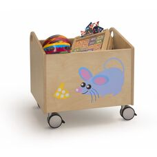 Stow and Go Rolling Kid Bin with Lockable Casters - 19.75