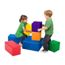 SoftZone® 7 Piece Over-Sized Bright Colors Vinyl Covered Foam Blocks