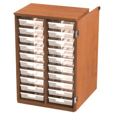 20 Tote Tray Storage Solution with Door - 28