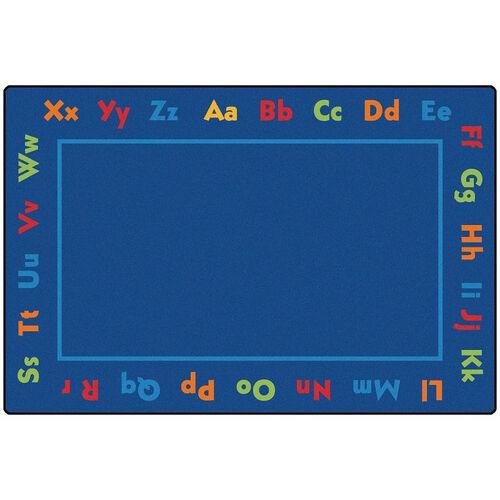 Our Kids Value Alphabet Value Rectangular Nylon Rug - 96