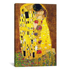 The Kiss by Gustav Klimt Gallery Wrapped Canvas Artwork