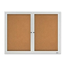 Quartet Enclosed Outdoor Bulletin Board -2 -Door -4