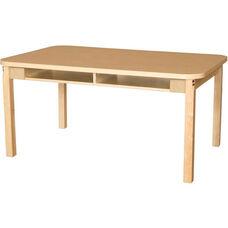 Four Seater High Pressure Laminate Desk with Hardwood Legs - 48