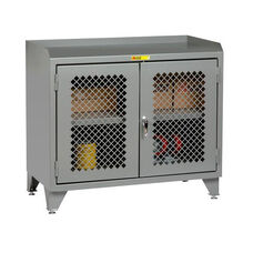 Counter Height Bench Cabinet with 2 Perforated Doors - 24
