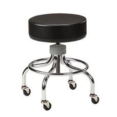 Adjustable Stool - Chrome Base and Foot Ring
