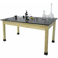 Rectangle Shaped Chemical Resistant Science Table with Solid Phenolic Resin Top - 30