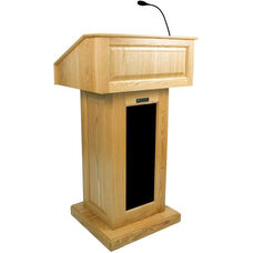 Victoria Wired 150 Watt Sound Lectern - Maple Finish - 26.375