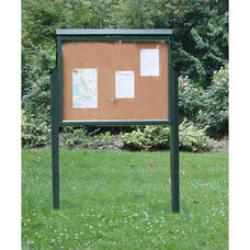Large One Side Recycled Plastic Message Center with 2 Posts