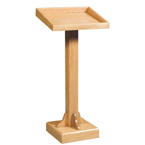 Stained Red Oak Lectern with Recessed Top