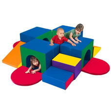 SoftZone® Bright Colors Vinyl Covered Foam Tunnel Maze Beginners Climber
