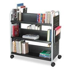 Safco® Scoot Book Cart - Six-Shelf - 41-1/4w x 17-3/4d x 41-1/4h - Black
