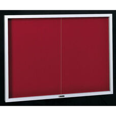 Contemporary Bulletin Board Sliding 2 Door Cabinet - 36