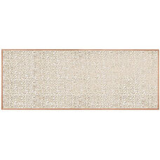 Burlap Weave Vinyl Bulletin Board with Red Oak Frame and Clear Lacquer Finish - Cloud - 48