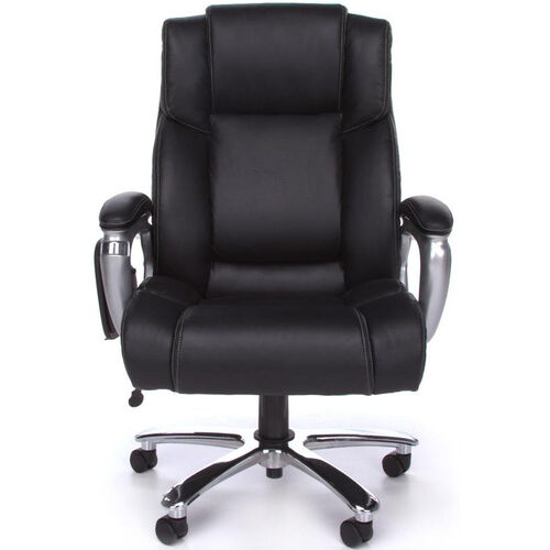 Oro Big & Tall Executive Tablet Conference Chair - Black Bonded Leather