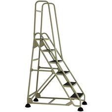 Stop Step 6 Step Ladder with Double Handrail - Beige