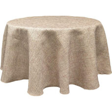Round Polyester Table Cloth - Burlap