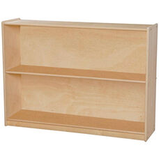 Contender Adjustable Two Shelf Wooden Bookcase - Assembled - 46.75