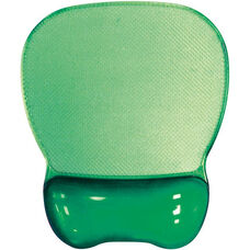 Crystal Transparent Gel Mouse Pad Wrist Rest - Green