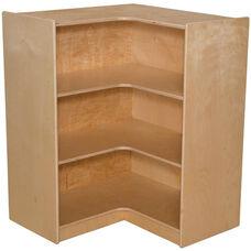 Wooden Three Shelf Corner Storage Unit - 29.44
