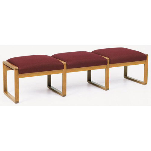 Contour Series 3 Seat Backless Bench with Sled Base