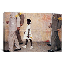 The Problem We All Live With - Ruby Bridges by Norman Rockwell Gallery Wrapped Canvas Artwork