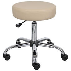Caressoft™ Adjustable Height Medical Stool with Chrome Base - Beige