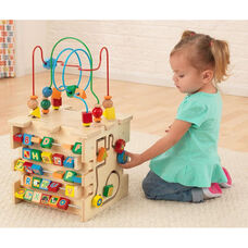 Early Childhood Development Wooden Colorful Deluxe Activity Cube