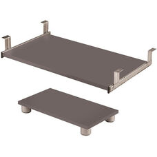 Connexion Keyboard Shelf and CPU Platform with Double Extension Ball Bearing Slides - Slate