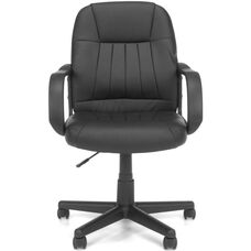 Essentials Executive Conference Round Back Chair - Black