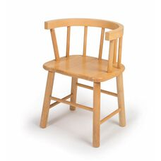 Kids Hardwood Chair with Curved Bentwood Back in Maple