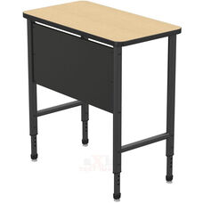 Apex Series Height Adjustable Stand Up Desk with PVC Edge - Sand Shoal Top with Black Edge and Legs - 36