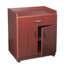 Safco® Mobile Laminate Machine Stand w/Pullout Drawer - 30 x 20-1/2 x 36-1/4 - Mahogany