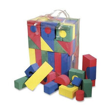 Chenille Kraft Company Colorful Shaped Foam blocks - 68 Piece - Assorted