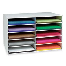 Pacon Construction Paper Storage - 10 Slots - 16 -78